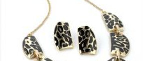 Animal Print Necklace and Earring Set