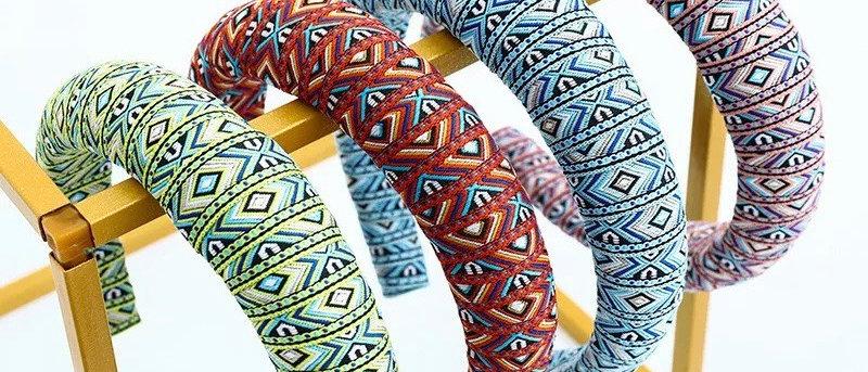 Fashion Ethnic Wind Baroque Headband Fabric Headband