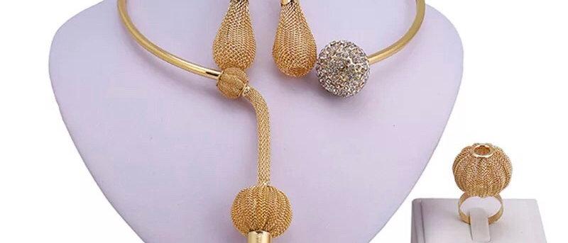 18K Crystal Choker Women's Jewellery Set