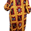 Thumbnail: Yellow Lace Trim Neckline Ankara Dress
