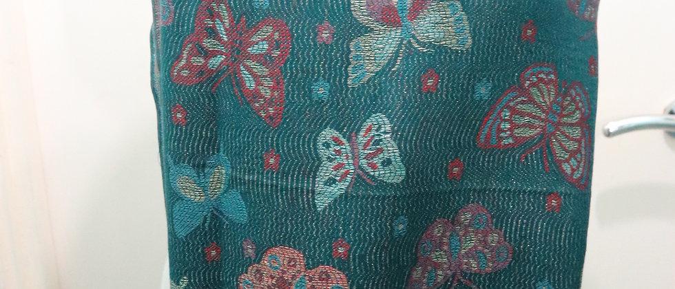 Metallic Thread Butterfly Print Tassel Scarf,Hijab,head wrap,ankara head wraps,S
