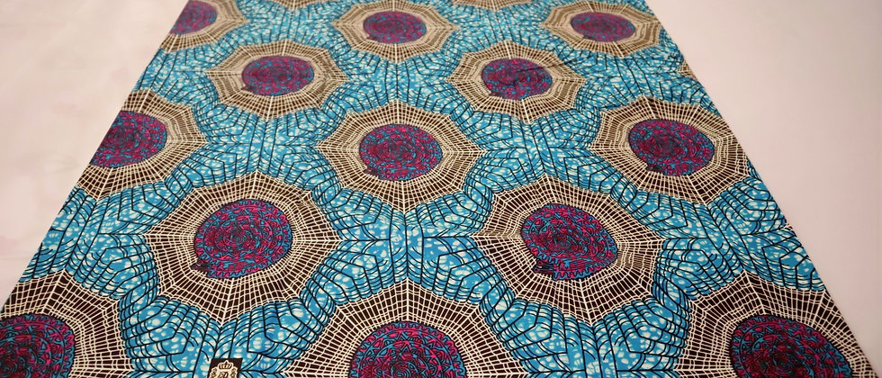 African Print, Ankara Fabric, Turquoises Blue Web design African Print Fabric 6