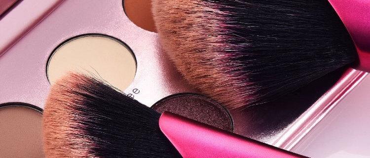 Classic Shape Professional 2Pcs Set Powder/Foundation Brushes