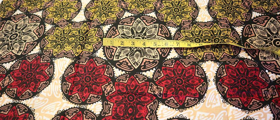 African Ankara Fabric, 6 Yards, Multicolour Ankara Pint, African Print