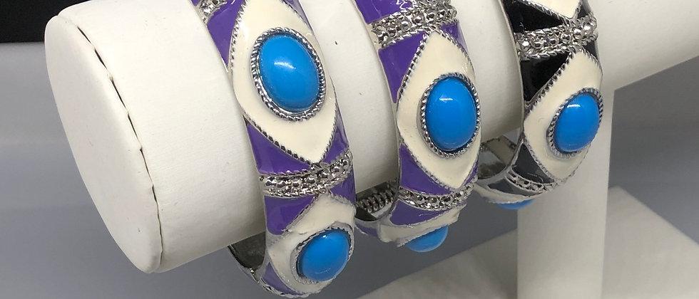 Women's Hinge Bead Stone Design Bangle