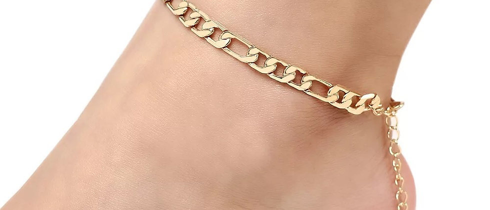Fashionable Gold and Silver Plated Anklet Chain