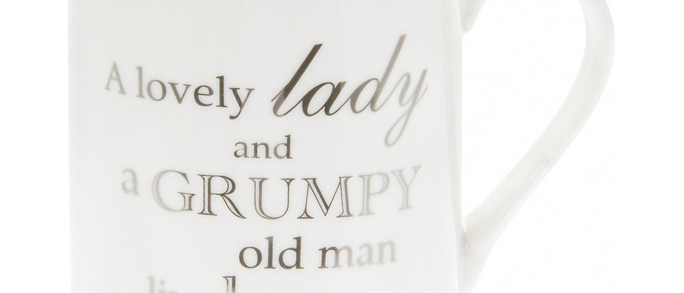 A Lovely Lady Mug, A Lovely Lady and A Grump Old Man Live Here Mug