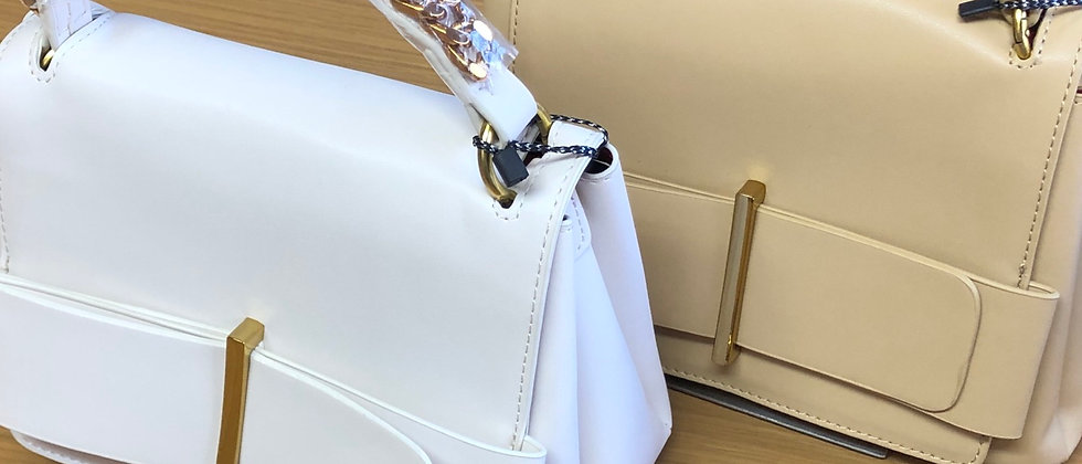 Gorgeous Bow and Chain Detail Ladies Hand and Shoulder Bag