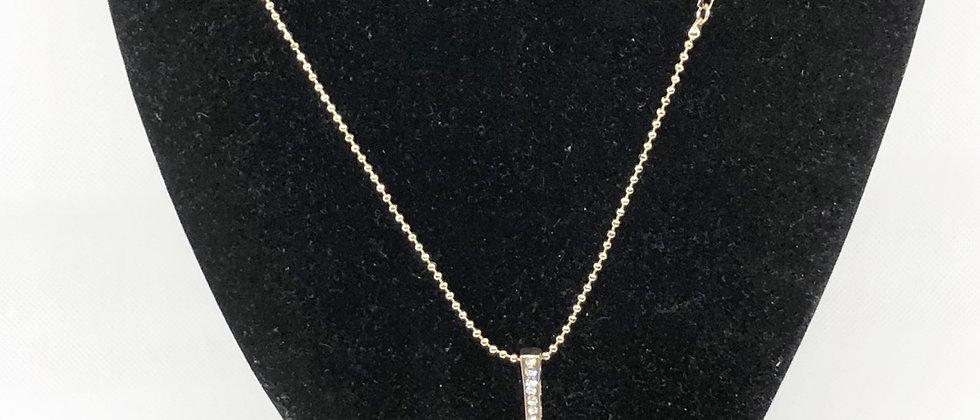 Classic Diamanté Crystal Cross Long Necklace