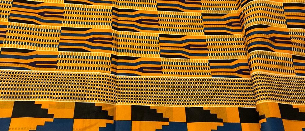 Ghanaian Kente African Wax Print Fabric