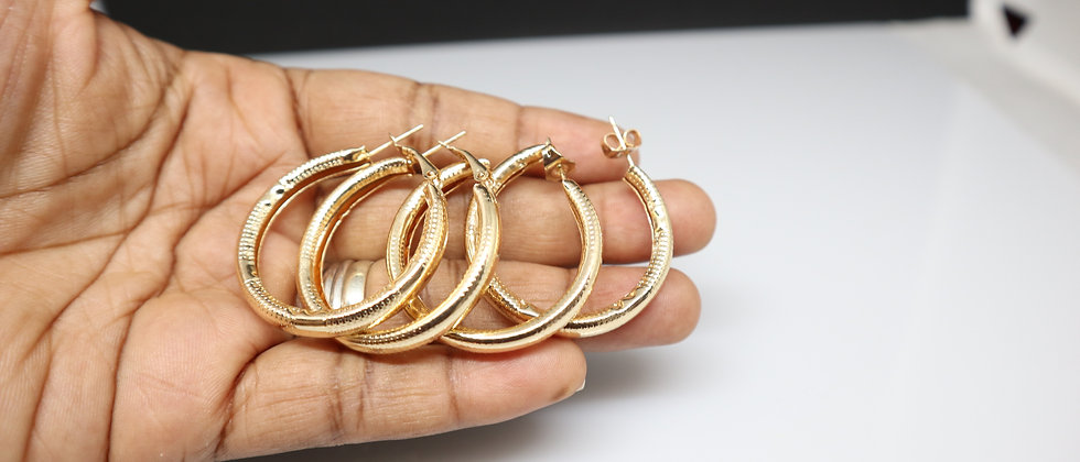 Gold Plated Hoop Earring
