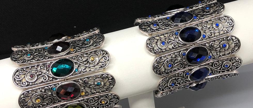 Elasticated Women's Diamanté Stone Bracelet
