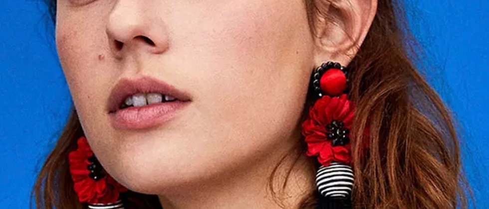 Fashionable Tassels/Fringles Hyperbole  Drop Statement Earring
