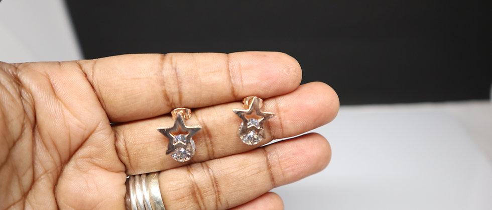 Stainless Steel Star Stud Earring