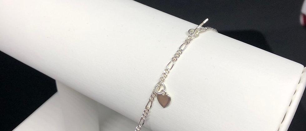 Elegant Chain Sterling Silver Charm Bracelet