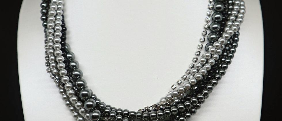 Fiorelli Jewellery 7 Strand Beaded Statement Necklace