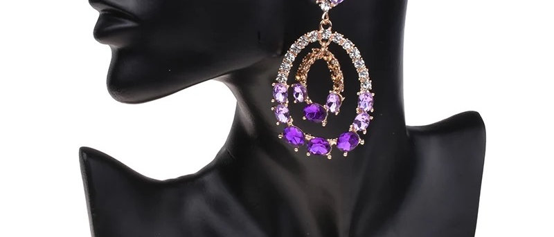 Fabulous Round Statement Crystal Drop Earring