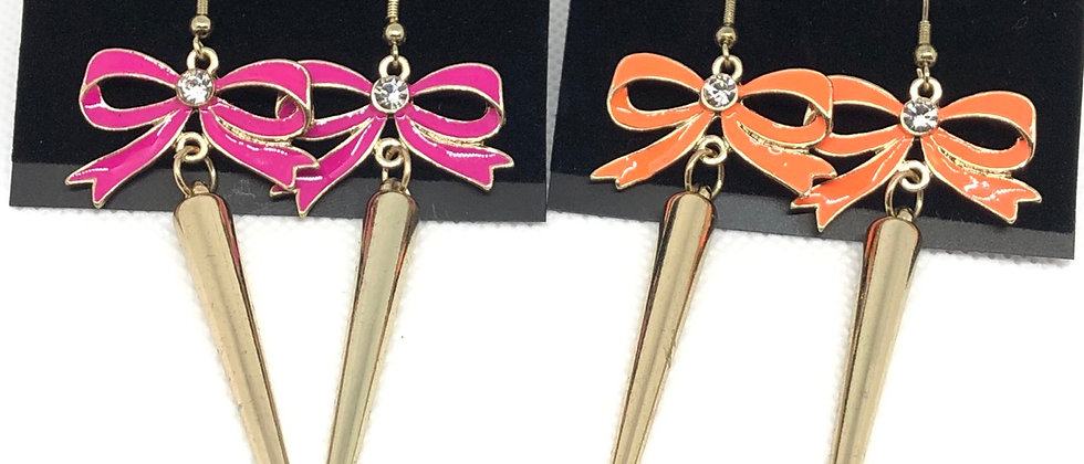 Gorgeous Bow Details Dangling Earring