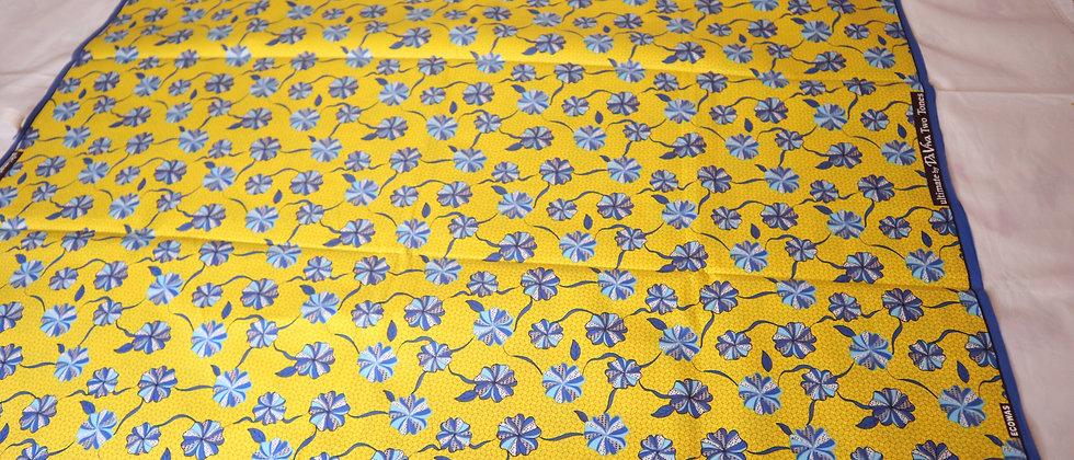 African Print, Ankara Fabric, Flower Design, Yellow African Wax Print Fabric