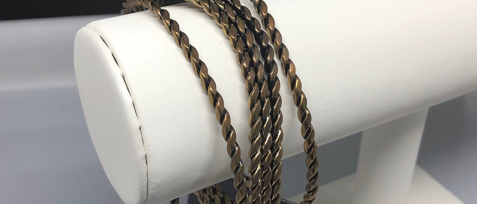 Bronze Wire Design Expandable Metal Bangle