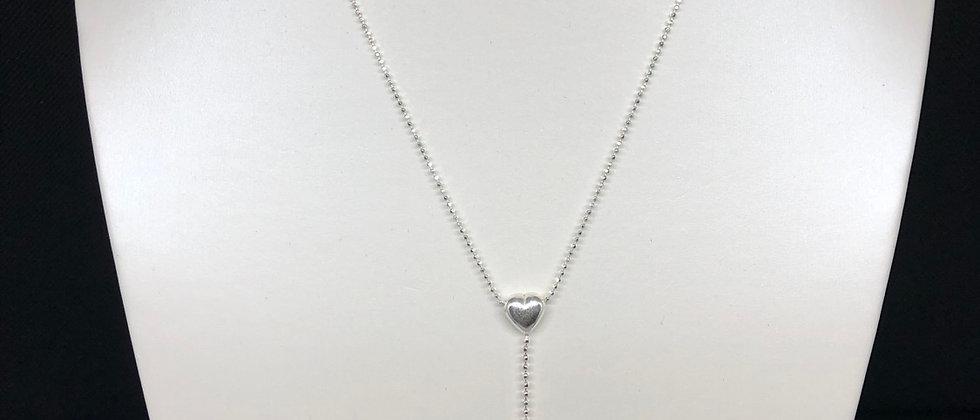 Elegant Design Double Heart Sterling Silver Necklace