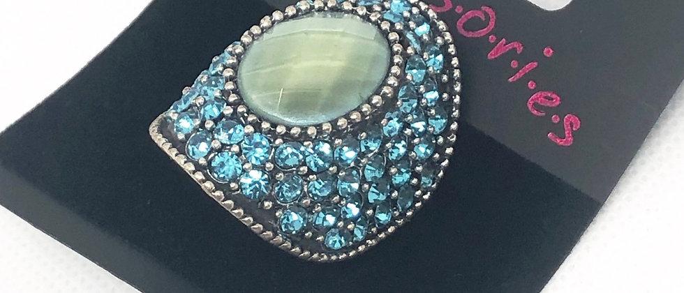 Dazzling Crystal Dome Shape Adjustable Ring