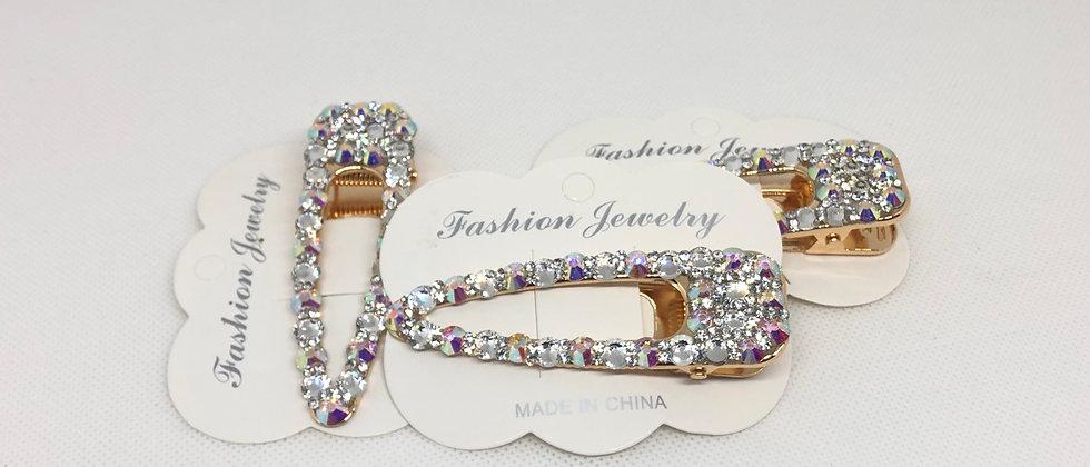 1PCS Luxurious Crystal Diamanté Hair Clip