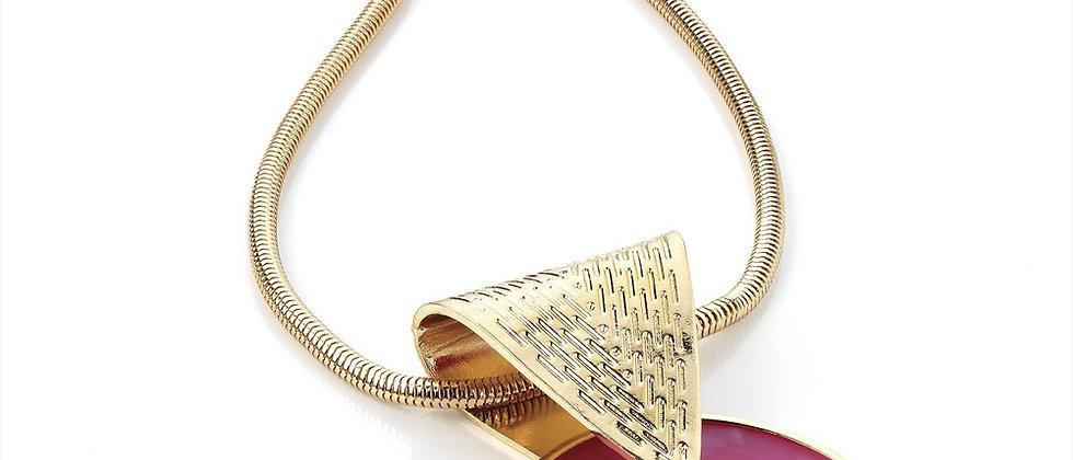 Fuchsia Pink Pendant Necklace
