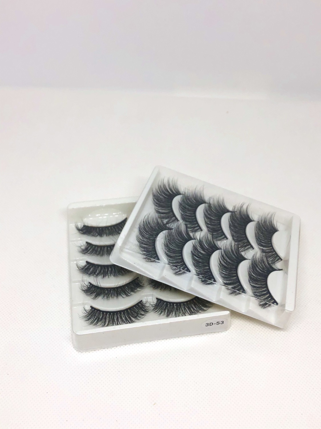 Thumbnail: 5Pairs Dramatic 3D Mink Hair False Eyelashes Natural/Thick Long Eye Lashes