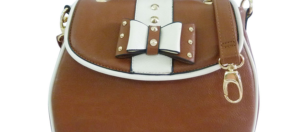 Bow Detail Ann Smith Designer Shoulder/Body Bag