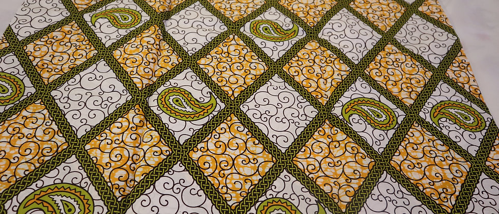 African Print Fabric, Mitex Holland Wax Print ,6 Yards, Soft African Fabrics