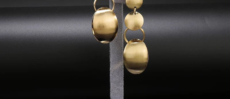 18K Gold Plated Dangling Drop Statement Earring