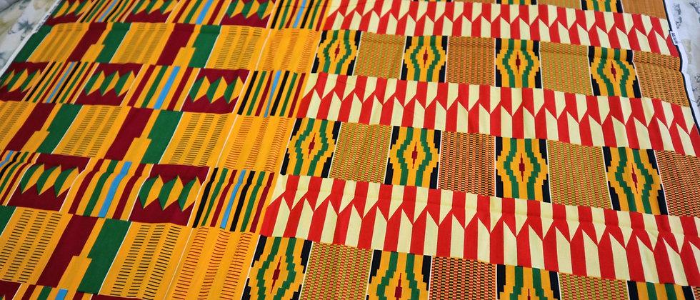 KENTE Fabric - African Kente Ghana Cloth Print