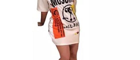 Fashionable Ladies Casual T Shirt Dress