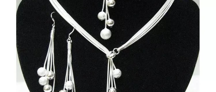 925 sterling silver Plated five-wire beads Jewellery Set