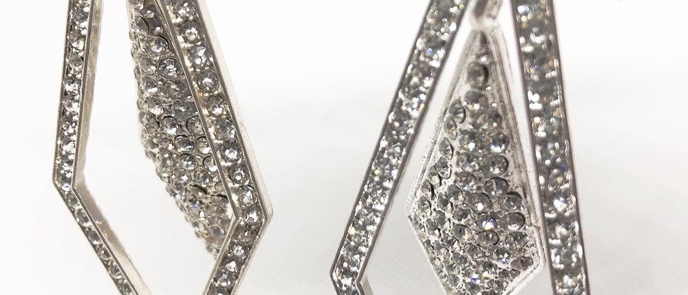 Gorgeous Dazzling Crystal Diamanté Dangling Earring