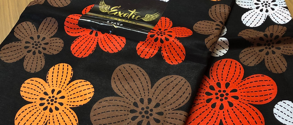 Exotic Flowery Design High Quality African Wax Print Fabric