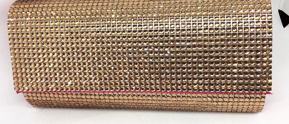 Fabulous Diamanté Stones Evening Clutch Bag
