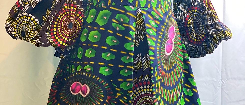 Sophias Fab Ankara Dress Contracts Balloon Sleeves