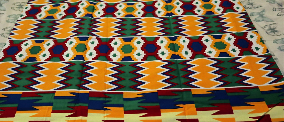KENTE Fabric - African Kente Ghana Cloth Print