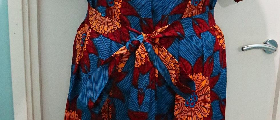 African Cotton Print Ankara Long Maxi Dress, Plus Size