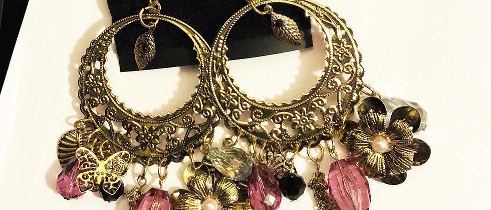 Lovely Charm Dangling Gold Colour Earring