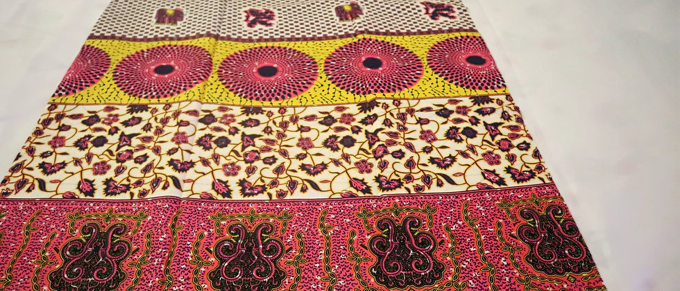 African Print, Ankara Print, Patch Work Design Wax Print ,African Print