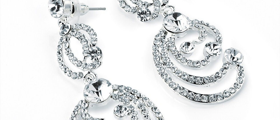 Diamanté Crystal Drop Earring