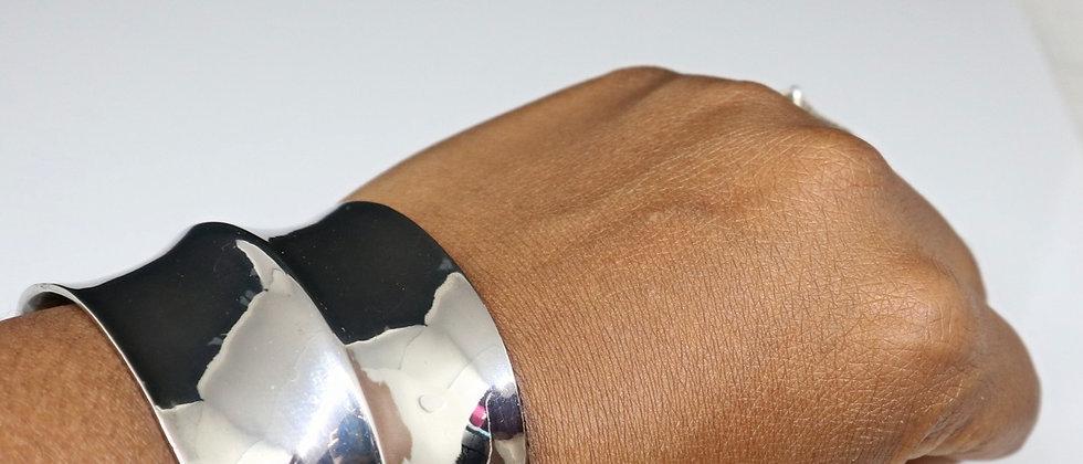Fiorelli Jewellery Silver Expandable Cuff Bangle