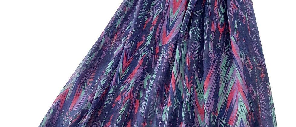 African Stripe Print Scarf, Tassel Scarf, African Stripe Tasselled Corner Scarf