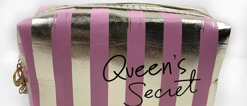 Lettering Queen Secret Women Laser PVC Cosmetics Makeup Pouch/Bag