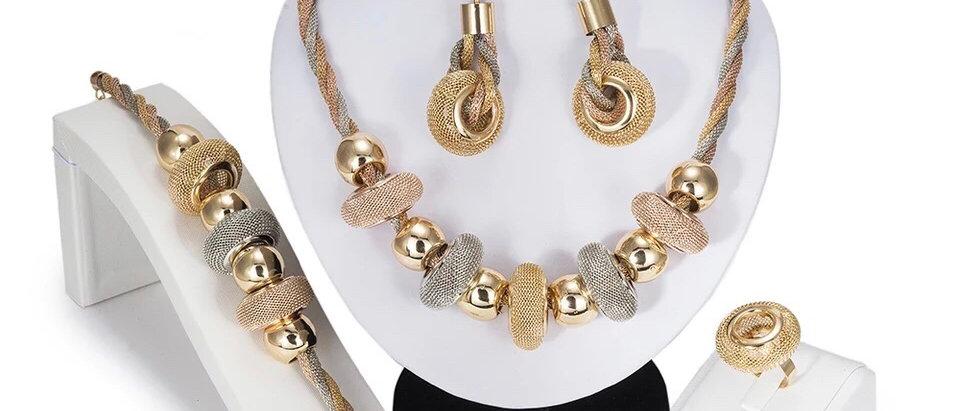 Elegant Multi Colour Plated Jewellery Set