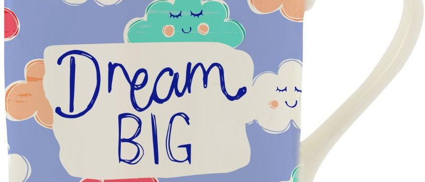 Dream Big Fine China Mug