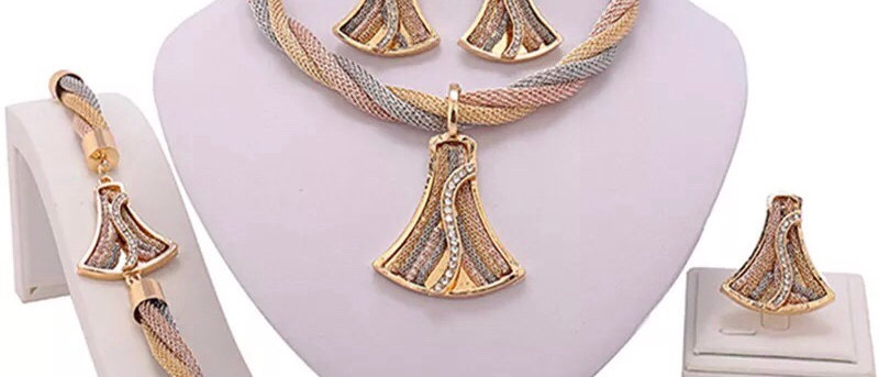 18K Gold Plated 3 trios Women's Jewellery Set